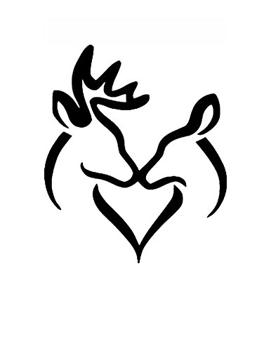 amazon com 8x10 buck and doe kissing stencil made from 4 ply matboard