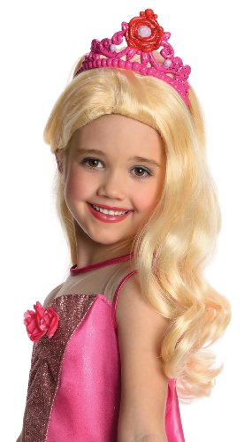 [Barbie in The Pink Shoes Kristyn Wig with Attached Tiara] (Barbie Halloween Costumes For Kids)