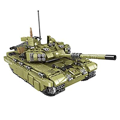 WOLFBSUH Tank Building Set Tank Model Kit, 1386Pcs Military Tank Series Building Block Model Educational Toy Set Compatible with Other Brands of Construction Blocks: Toys & Games