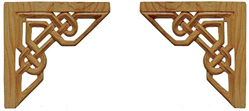 Wild Goose Carvings Irish Legacy Knotwork Arch. Small Size. 6¾ inches h x 6¾ in w x ½ in th Celtic Weave Crown Moldings Carved by Our Master Craftsman in ()