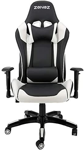 ZENEZ Gaming Chair Video Game Chairs Racing Style PU Leather High Back Adjustable