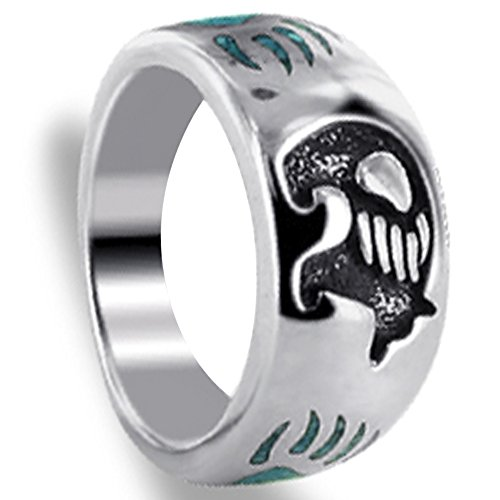 Sterling Bear Claw (Gem Avenue Men's 925 Sterling Silver Turquoise Gemstone Inlay Bear with Claw Southwestern Style Ring)