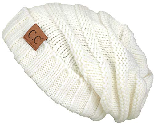 H-6100-25 Oversized Slouchy Beanie - Ivory