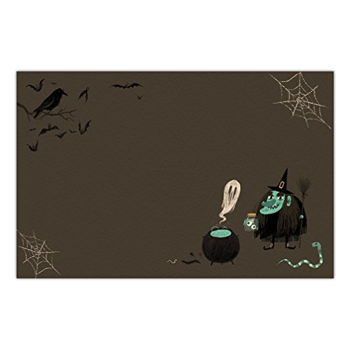 DB Party Studio Halloween Paper Place Mats 25 Pack Witches Brew Disposable Indoor Outdoor Easy Cleanup Placemat Table Settings Home School Children Adult Costume Parties 17