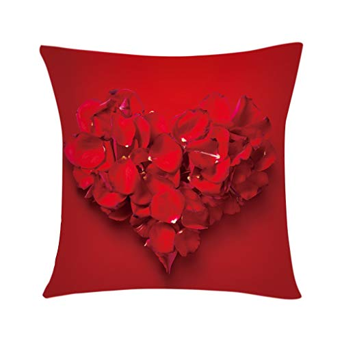 scamper Pillowcase Letters Sweet Heart Love Throw Pillow Covers Polyester Cushion Cover Case Valentine's Day Series 45X45cm