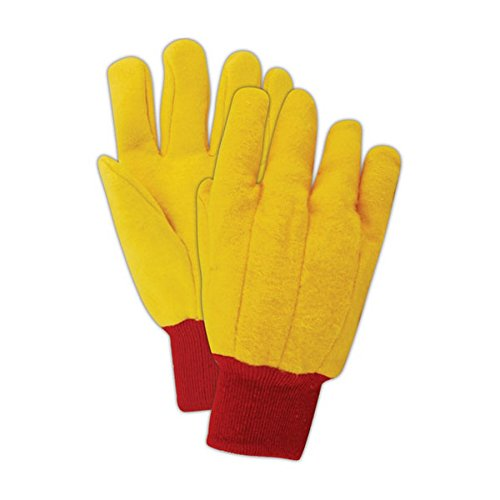 Magid Glove & Safety 565KW Magid MultiMaster 14 oz. Clute Pattern Double Palm Gloves, Medium, Brown Yellow , Men's (Fits Large) (Pack of 12) Palm Clute Pattern