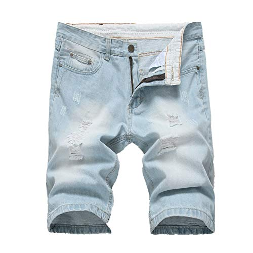 Foro Blue Con Da Cotone Dimensione 32 In Uomo Pantaloni Pantaloncini Uomo White Denim Leggeri colore Leggero Lfives Blu gTPnv8