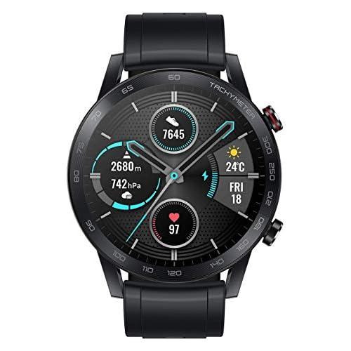 chollos oferta descuentos barato Honor MagicWatch 2 46 mm Smart Watch con monitor de ritmo cardíaco y estrés modos de ejercicio aplicación para correr y altavoz y micrófono integrados color negro carbón