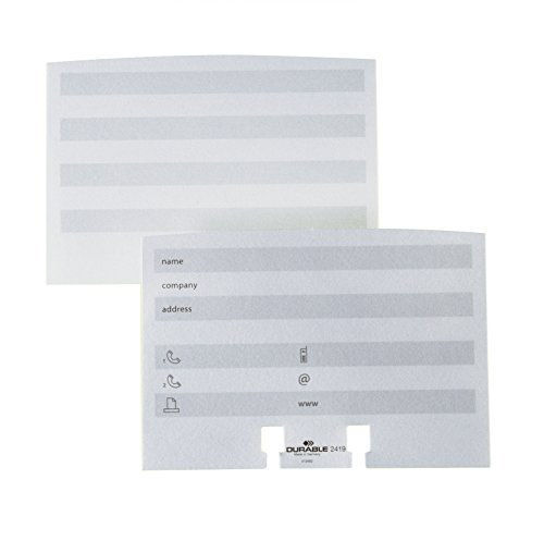 (Durable Visifix & Telindex Address Cards Extension Set, White, 100 Pack (241902) by Durable)