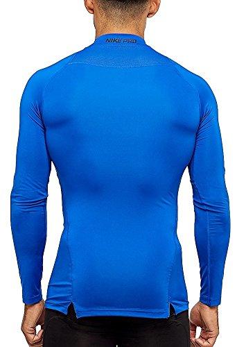 Manica Con Colletto Blue Mock Compression Uomo A Ls Nike Pro Top Lunga q8Uz8Y1