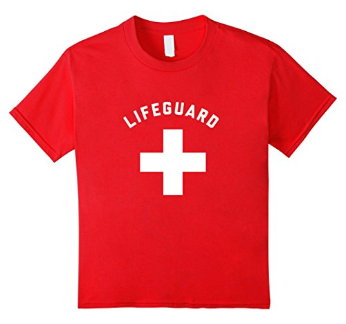 Kids Lifeguard Halloween Costume TShirt 12 Red