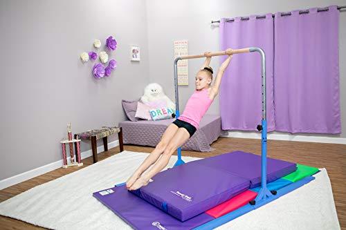 Tumbl Trak Jr Bar PRO Adjustable Gymnastics Training Bar, Blue