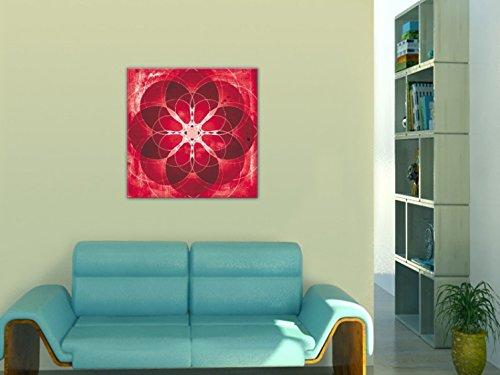 1art1 80966 Mandalas - Rot, Kraft, Energie, Energie, Energie, Liebe Und Leidenschaft Poster Leinwandbild Auf Keilrahmen 70 x 70 cm 4a128e