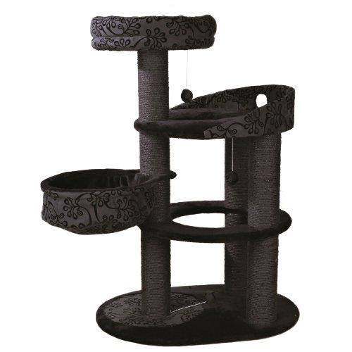 Arbre-chat-FILIPPO-114-cm-NoirGris-anthracite-Adapt-pour-grands-chats