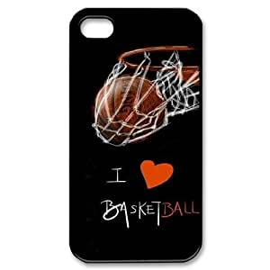 Custom Cover Case with Hard Shell Protection for Iphone 4,4S case with basketball lxa#244978
