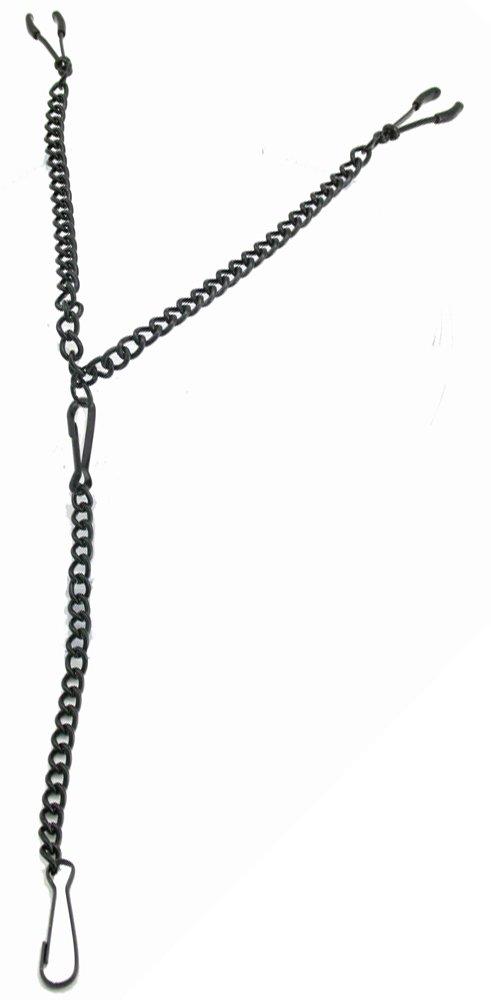Nipple Clamp - Wide Tweezer W/chain - Black