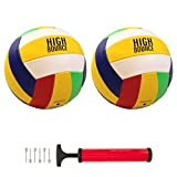 High Bounce Traditional Volley Ball official size set of 2 including Pump & needles