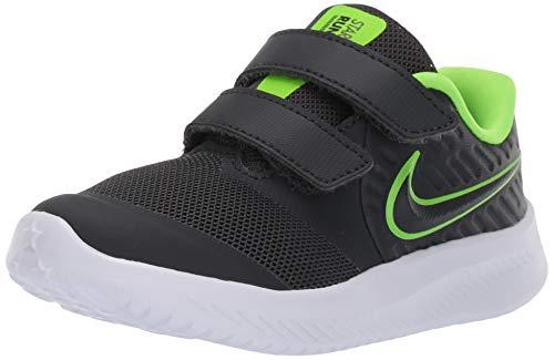 Nike Kids Star Runner 2 (TDV) Sneaker, Anthracite/Electric Green - White, 2C Toddler US Toddler