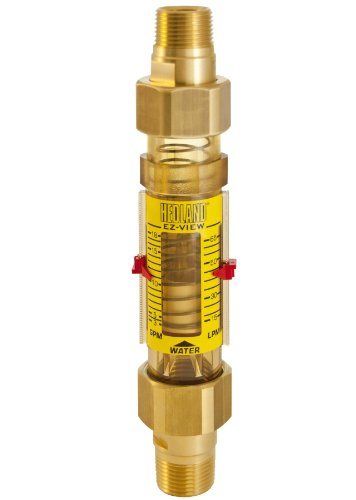 - Hedland H625-018-R EZ-View Flowmeter, Polyphenylsulfone, For Use With Water, 3.0 - 18 gpm Flow Range, 3/4