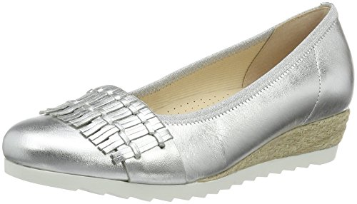 Bailarinas Shoes 641 10 Gabor Mujer 62 Jute Silber Plateado 4tqwxa