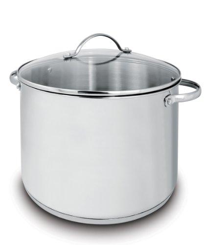 Cuisinox POT-DE32 Deluxe Covered Stock Pot, 19-Liter