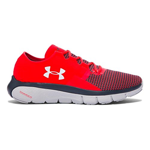 Under Armour UA Speedform Fortis 2 Shoe - Mens Rocket Red/Glacier Gray/Overcast Gray 12.5