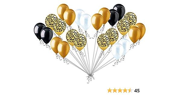 Giraffe Balloon Cute Safari Animal Balloons 24 Inch Metallic Yellow Mylar Balloon Birthday Decor House Party Balloon Safari Print Balloons