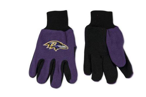 (NFL Baltimore Ravens Two-Tone Gloves, Purple/Black)