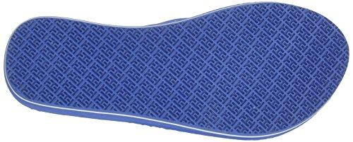 Mujer Sandalias Hilfiger Azul Punta Tommy 415 M1285ona Riviera para Descubierta de 16r F8wx7