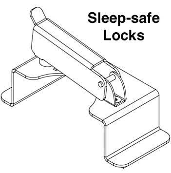 Sleep Safe Defender Second Door Lock Apartment Security Backup Lock