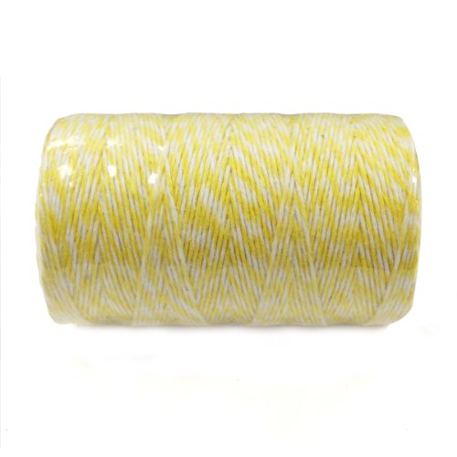 (AllyDrew Cotton Baker's Twine 4ply (109yd/100m), Yellow/White)