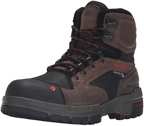 Wolverine Men's Legend 6 Inch Waterproof Comp Toe-M Work Boot, Dark Brown, 8 M US