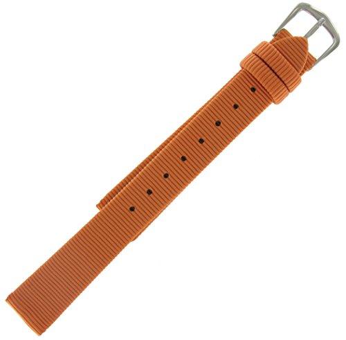 mm Watch Band Orange Grosgrain Ribbon Speedstrap (Grosgrain Ribbon Watch Band)