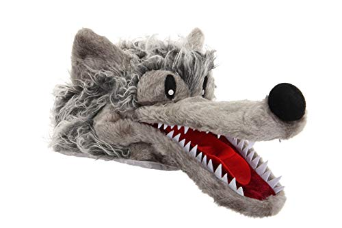 elope Big Bad Wolf Plush Costume Hat for Kids and Adults