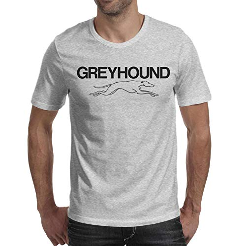 M.STRA Mens Greyhound-Bus-Line- Cotton Grey Short Sleeved Tshirts