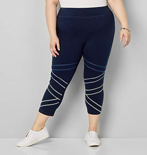 Avenue Women's Contrast Stitch Capri Active Legging, 22/24 -