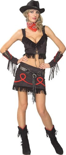Cowgirl Costume - Medium - Dress Size 10-12 (Cowgirl Fancy Dress Costumes)