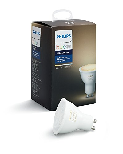 Philips Hue White Ambiance GU10 Dimmable LED Smart Spot Light (Hue Hub Required, Works with Alexa, Apple Homekit & Google Assistant), Old Version