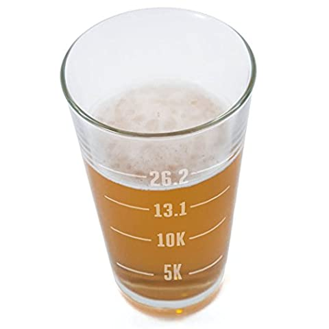 Runner's Measurements Engraved Beer Pint Glass By Gone For a Run | 16 oz.