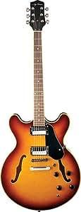 Jay Turser Jazz Guitars Jt-133-tsb Semi Hollow-body Electric Guitar, Tobacco Sunburst