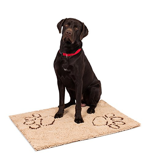 Chenille Seat - Internet's Best Chenille Dog Doormat - 35 x 25 - Absorbent Surface - Non-Skid Bottom - Protects Floors - Tan