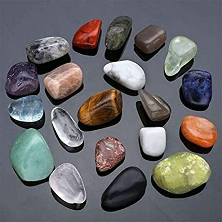 NO LOGO HYCSP Moda 20pcs cristalino Claro Azul calcita Natural Piedras Preciosas cayó Las Cuentas de Piedra Reiki Point Chakra Healing Minerales