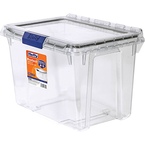 Heavy Duty Weather Protect Defense Storage, 20 Qt. Lid With Protective Seal/Clear, Perfect For Extra Defense, For Outdoor, Garage, Shed And Outdoor Activities Such As Camping, Hunting Or Boating by *Hefty