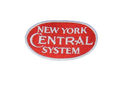 den29RedSS New York Central Red Logo Short Sleeve Embroidered Denim