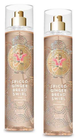 Bath and Body Works 2 Pack Spiced Gingerbread Swirl Fine Fragrance Mist 8 -