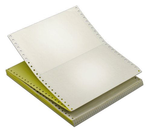 TOPS Continuous Computer Paper, 2-Part Carbonless, Removable 0.5 Inch Margins, 9.5 x 5.5 Inches, 3300 Sheets, White/Canary (55259)