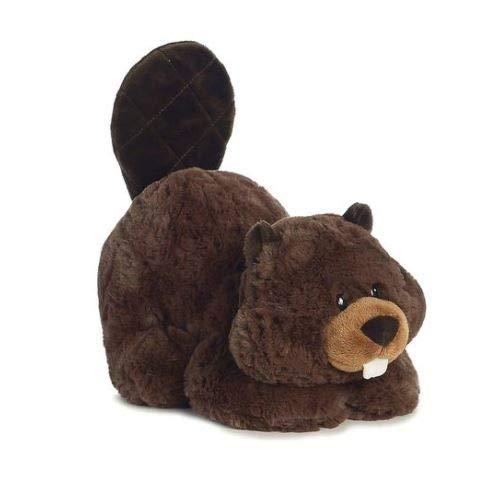 Aurora 16854 World Tushies Animals/Chomper Plush, Brown (Stuffed Beaver Plush)