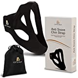Adjustable, Anti Snoring Chin Strap Device for Men and Women - Effective, Natural Sleep Aid Straps - Helps with Breathing Problems, Dry Mouth, Interrupted Sleeping - Snore Relief Jaw Band
