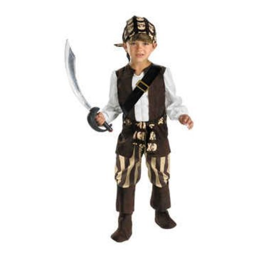 Rogue Pirate Small Child Costume Clothes Size 4-6
