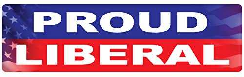 Bumper Sticker for Cars, Trucks - Proud Liberal - Professional Vinyl Decal | Made in USA - 3
